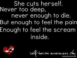 Self Harm Awareness by EmotionalDisaster666