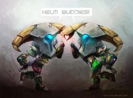 Helm Buddies by royalshark