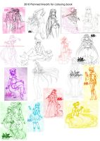 lineart plans 4 colouing book by EclairDuVerite
