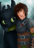Hiccup and Toothless by BeautifulSurgery
