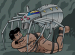 Tarzan vs. Spider-Bot 2 by JungleCaptor