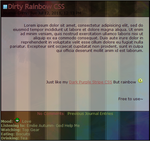 Dirty Rainbow CSS by nikkittie