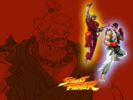 Street Fighter Wallpaper by dsx100