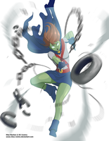 Miss Martian TK Blast by chou-roninx