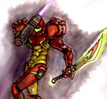 Samus with Sword by Turbid-D