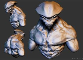 Alien Clay Sculpt practice by Akiratang