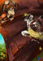 Kratos vs Donkey Kong by TuaX