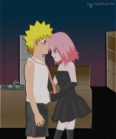 Kiss me Naruto... by natichan94