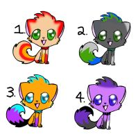 Cat Adoptables Set 3!! by Dracosia