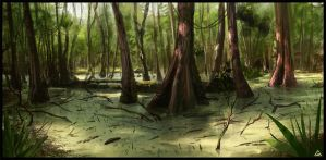 swamp bayou - speed paint by jamga