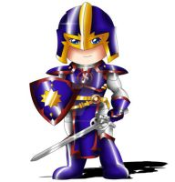 Black Knight Chibi by ExoroDesigns