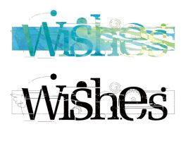 Wishes logo studies by Schall