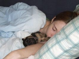 Sleepy Puppy and Me by Kudalyn