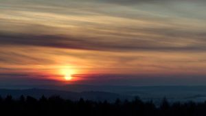 Sunset over Czech republic by klikklakcz