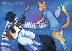It's a beautiful day, sky funky felines by nekophoenix