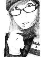 Some Girl. FAIL [Black and White scan] by Nana749