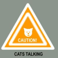 Caution Cat Talking dock icon by catluvr2