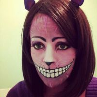 Cheshire Cat Make up. by AllMadHera