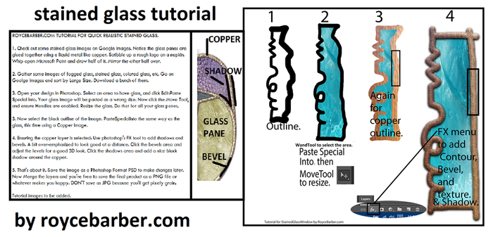 STAINED GLASS TUTORIAL FOR PHOTOSHOP by Royce-Barber