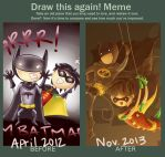 Artwork Improvement Meme: Batman and Robin by CodiBear