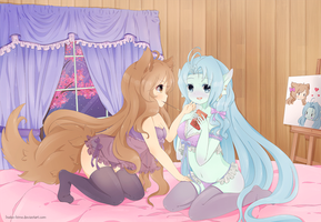 .Pocky Game. by lNeko-Hime