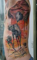 star wars vs. dali IN PROGRESS by graynd