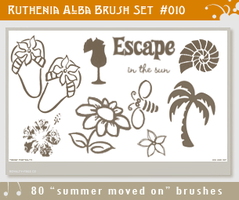 Brushset 10: Summer moved on by Ruthenia-Alba