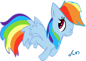 Rainbow Dash doodle by clyvore
