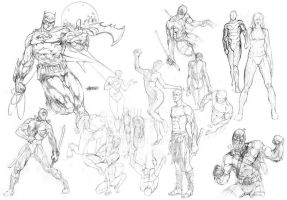 1st Sketch Dump feat. Batman by BeniaminoBradi