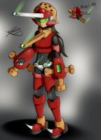 Model AB  New Megaman type by Quote-CurlyBrace