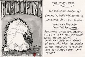Animal Totem Card: The Porcupine by tobys-brain