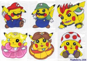Super Mario Brothers Chu's by pikabellechu