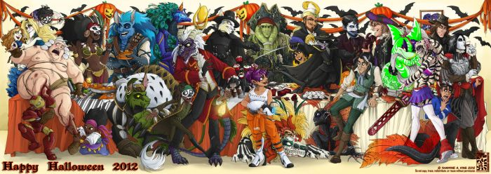 HAPPY HALLOWEEN from the Harem! by Quarter-Virus