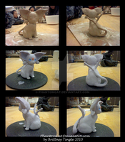 Ceramic Espeon wip by PhantomCat