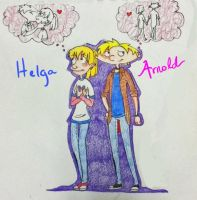 Helga and Arnold Older by TaurusBlue