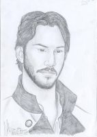 Keanu Reeves by miriamartist