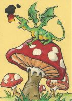 Baby Dragon - sketch card by Steevcomix