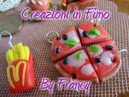 Fimo 14 Pizza and chips by FrancescaBrt
