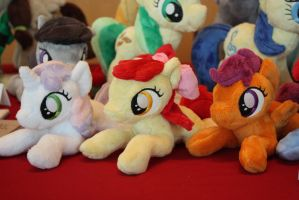 Cutie Mark Crusaders shoulderponies by Siora86
