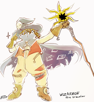 Wizarmon, the traveler by J3rry1ce