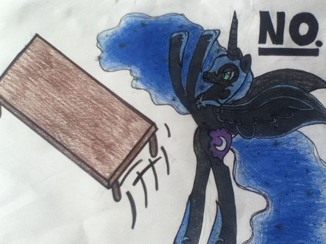 Nightmare Moon flipping a table by heyitsmeawtoobad