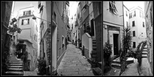 :streets of Vernazza: by kT4