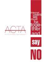 SAY NO TO ACTA by mastadeath