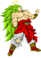 Broly Super Saiyan 3 by ERIC-ARTS-inc