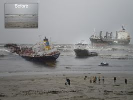 ships goes down by injured-eye