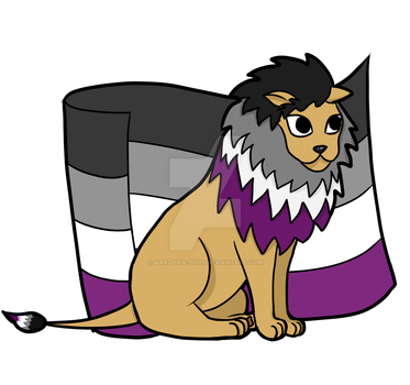 Asexual Pride Lion by marzipan-pond