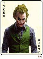Heath Ledger Joker by Shinnh