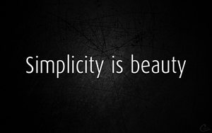 Simplicity is beauty by Cifro
