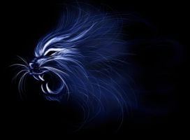 Blue Roaring Tiger by SrSilversky
