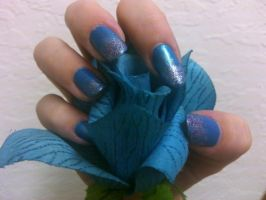Blue Frost Nails by MissDaniLips